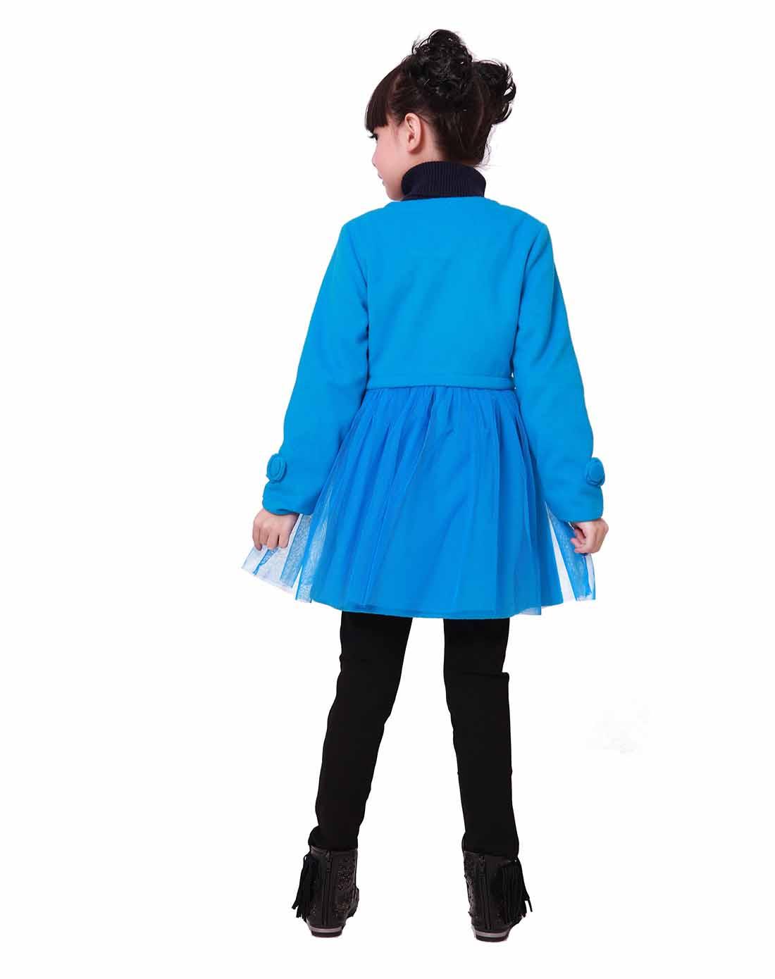 童湖蓝色呢子外套