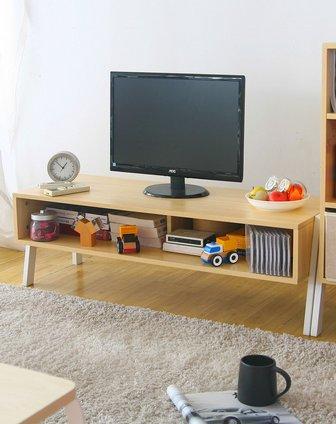 创意木质电视柜木纹色