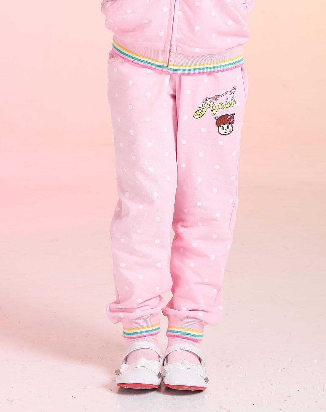 帕帕唻咔papalaik男女童装女童粉色裤子133g85101