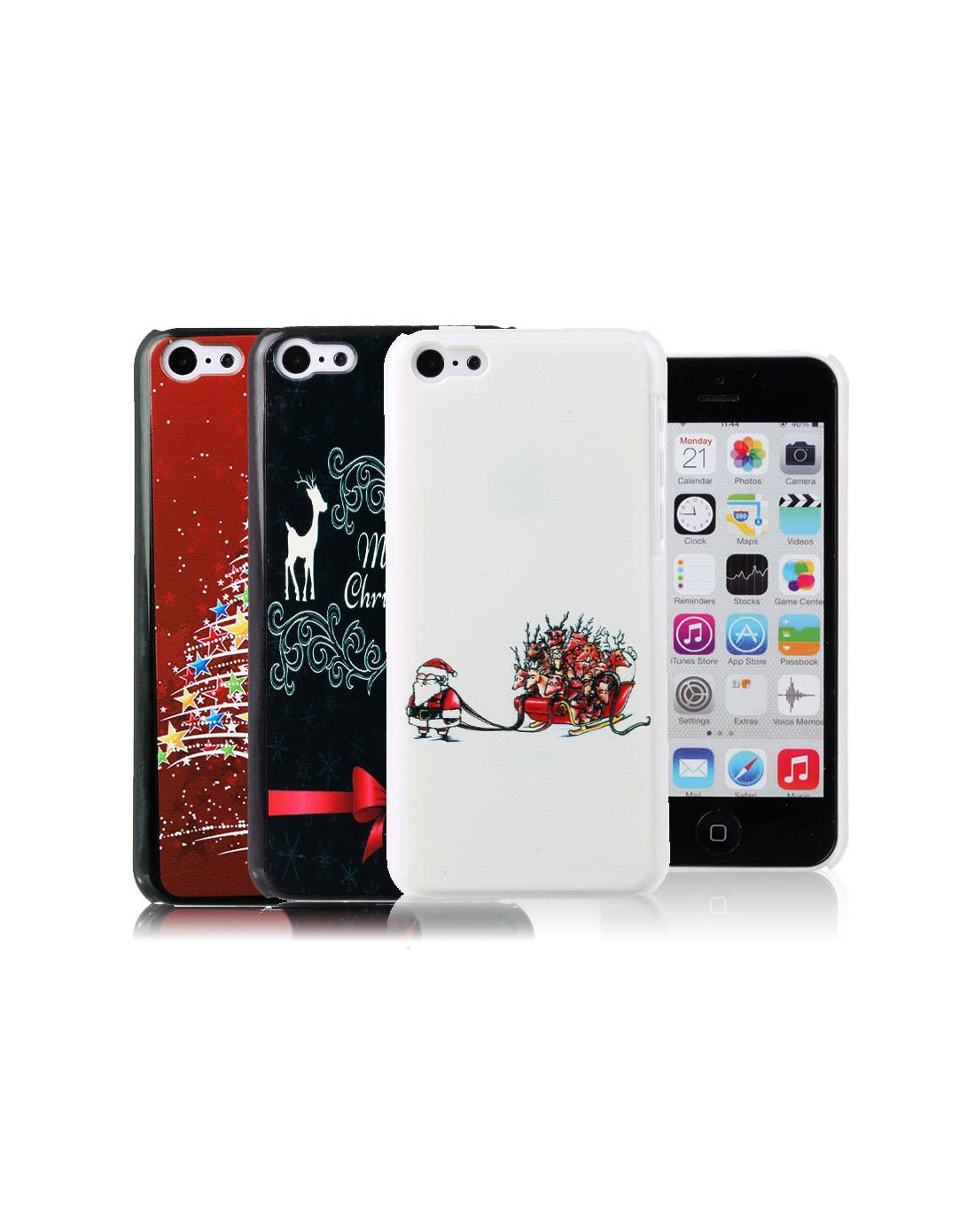> 苹果 限量版圣诞系列手机壳三件装
