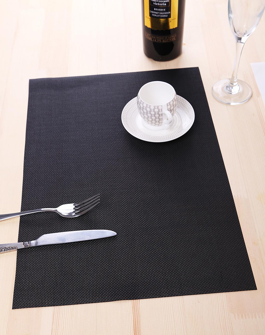 黑白简约防滑餐垫