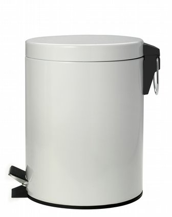 life家具5l脚踏式垃圾桶附马桶刷qa330