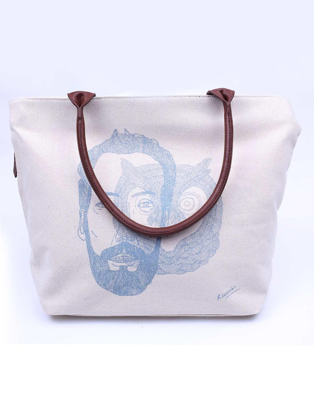 时尚经典手绘图案帆布包