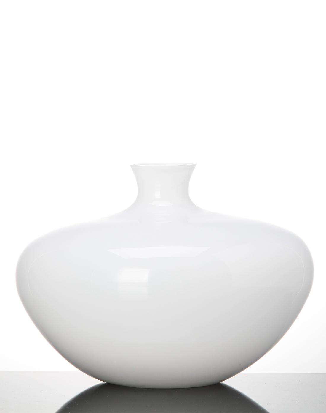 白色小瓶口大肚单支插花花瓶
