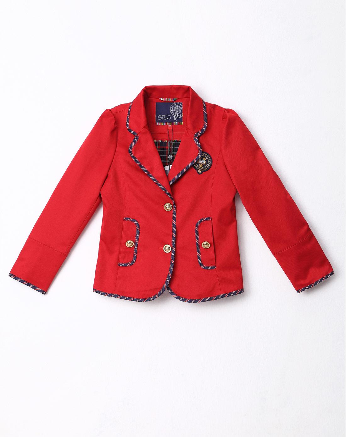 女童红色女童西装外套