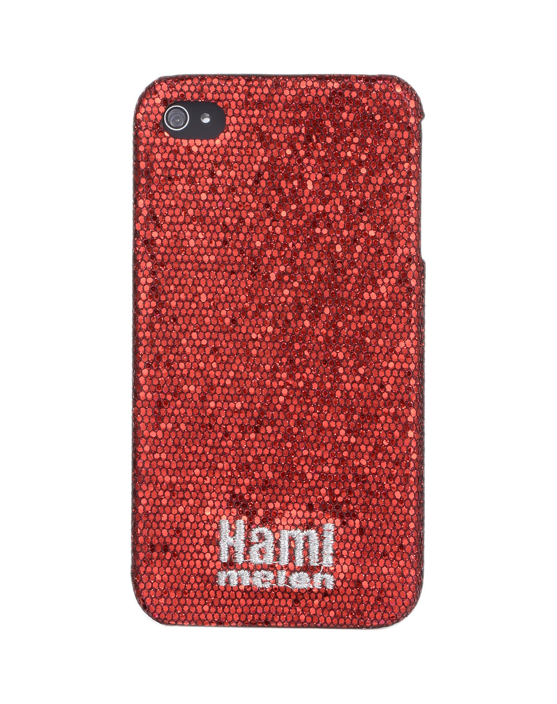 hamimelon iphone4/4s通用保护壳-深红色小亮片鱼鳞