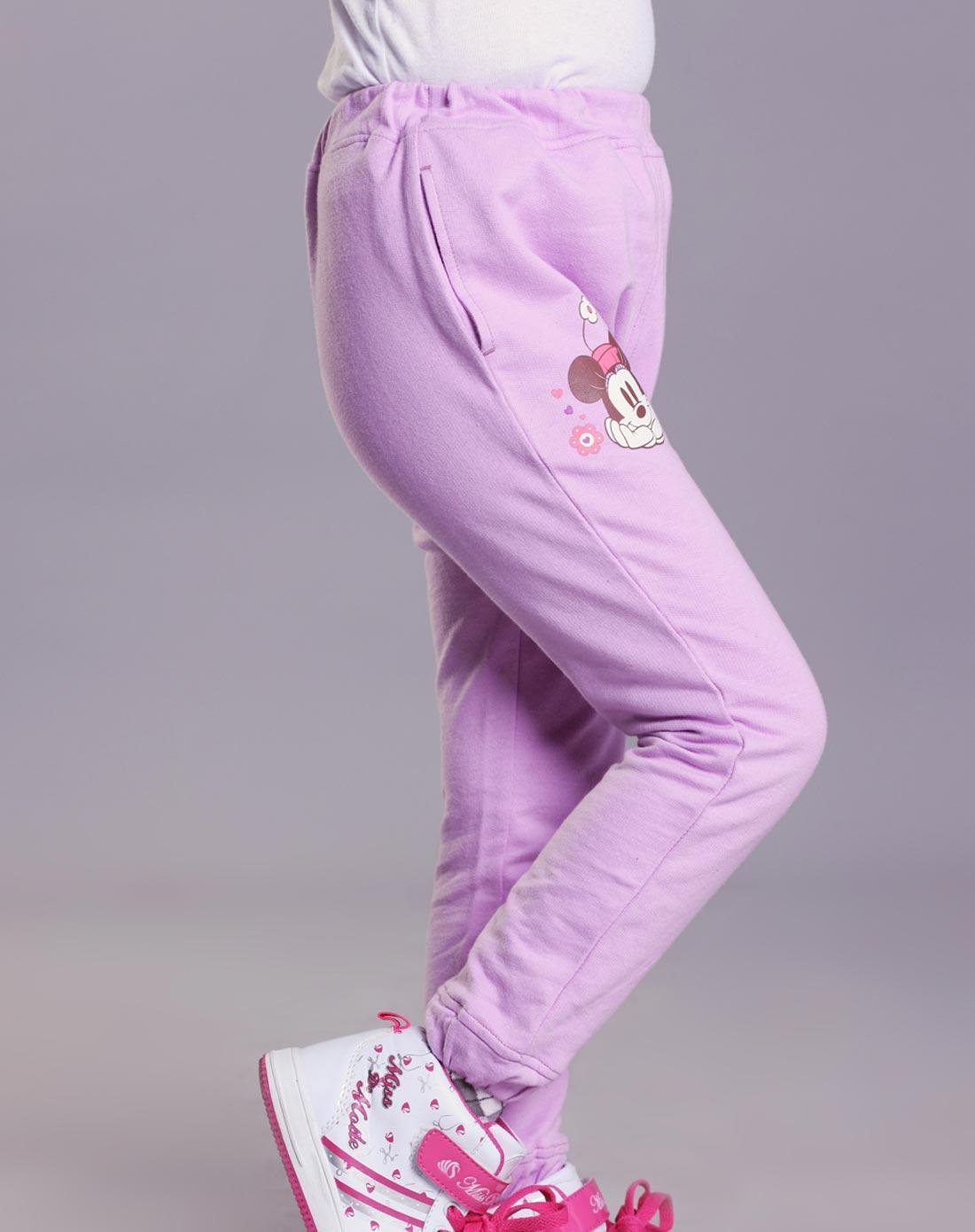 绿盒子greenbox迪士尼系列女童紫色裤子nq30401625