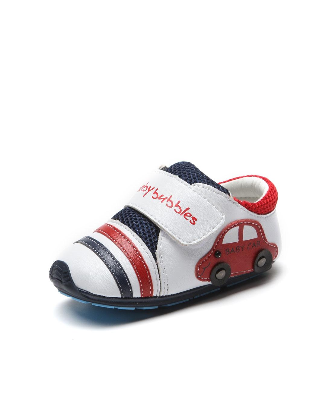 中性儿童白色超纤宝宝鞋
