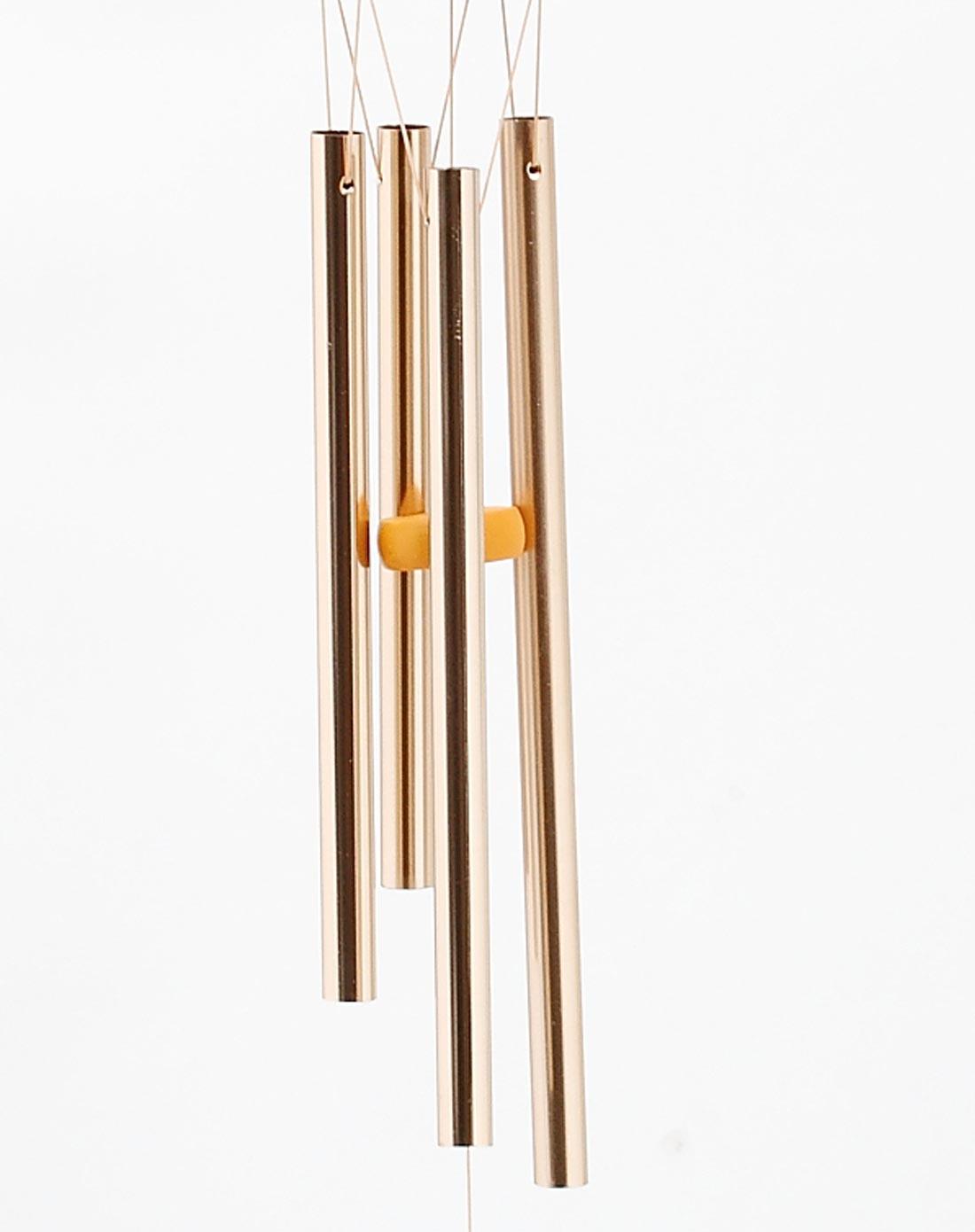 手工立体雕刻炫彩铁艺蝴蝶 铜金钢管欧式装饰风铃