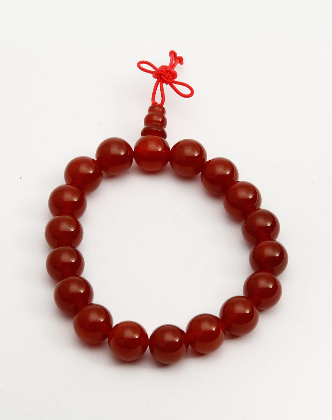橘红色头�_橘红色休闲葫芦头手链