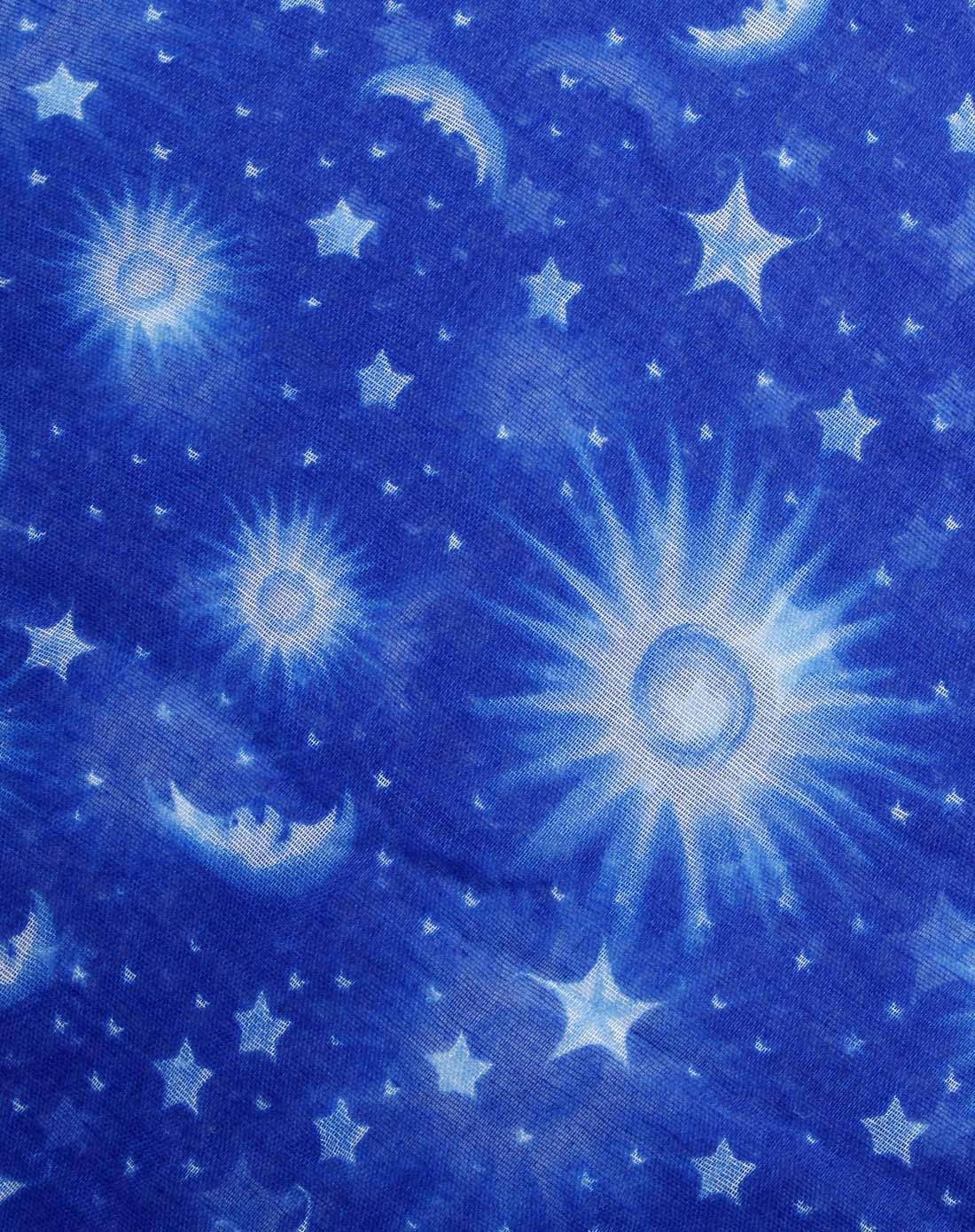 女款蓝色星空时尚百搭围巾图片