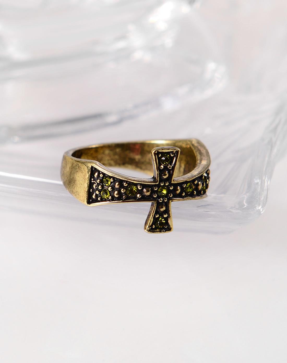 威妮华viennois复古仰望十字架戒指a005534r-003