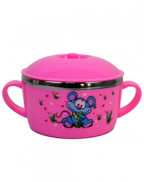 欧式健康宝贝水杯粉红色(带盖)