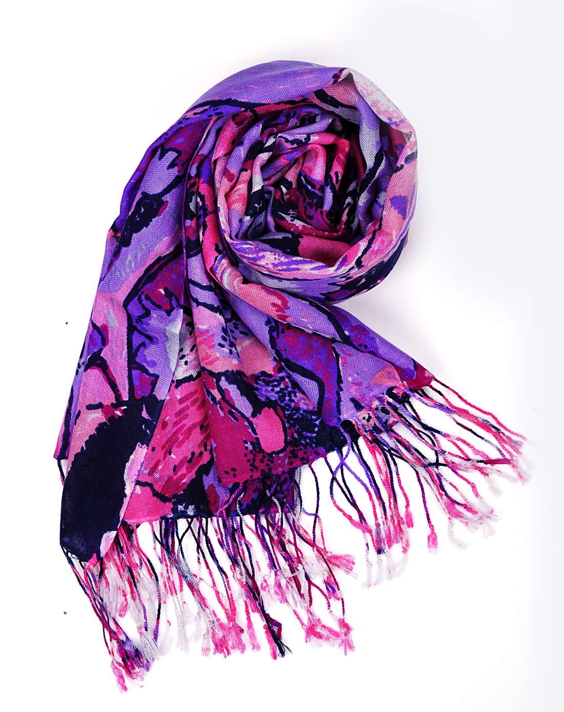 抽象画羊毛围巾w133a0804