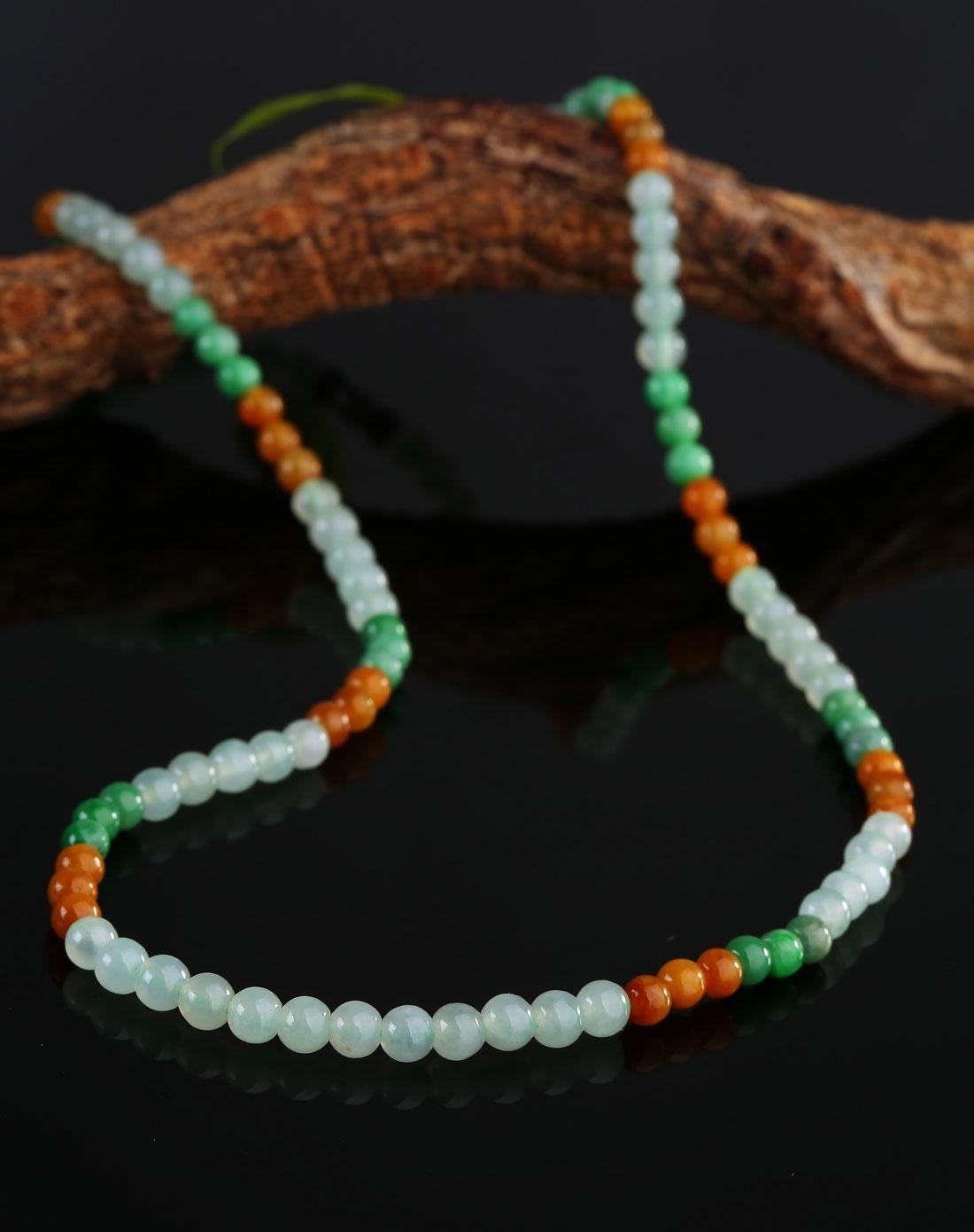 精选多彩珠子编制项链