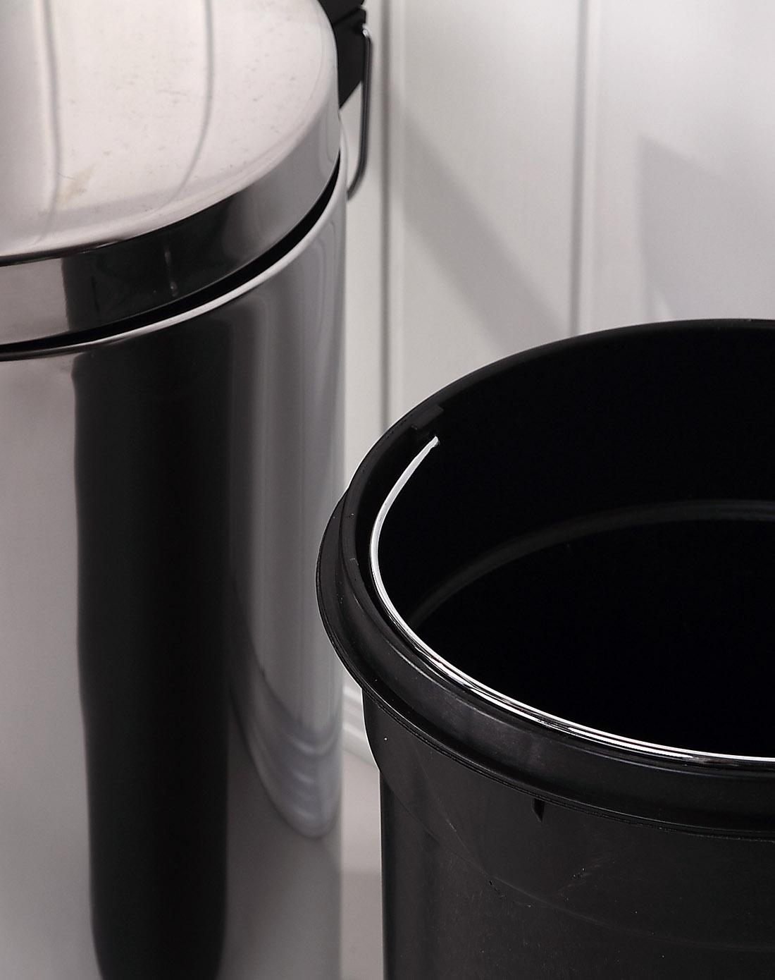 5l不锈钢镜光圆形垃圾桶