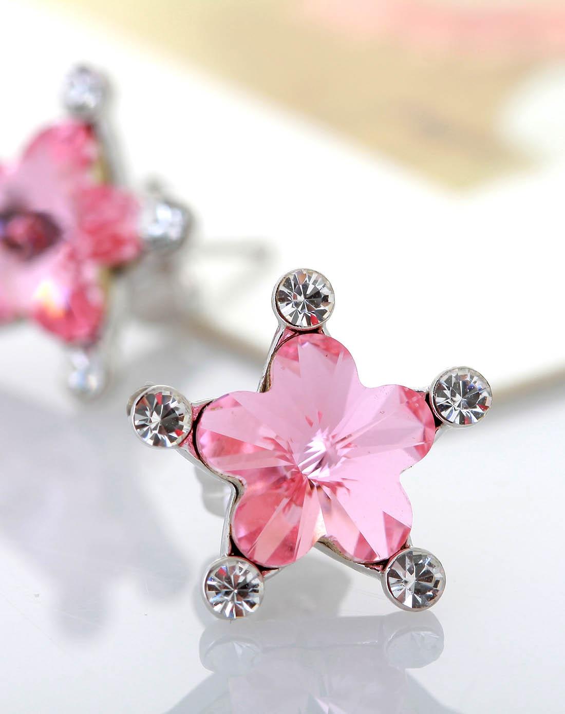 可爱粉色星星耳钉