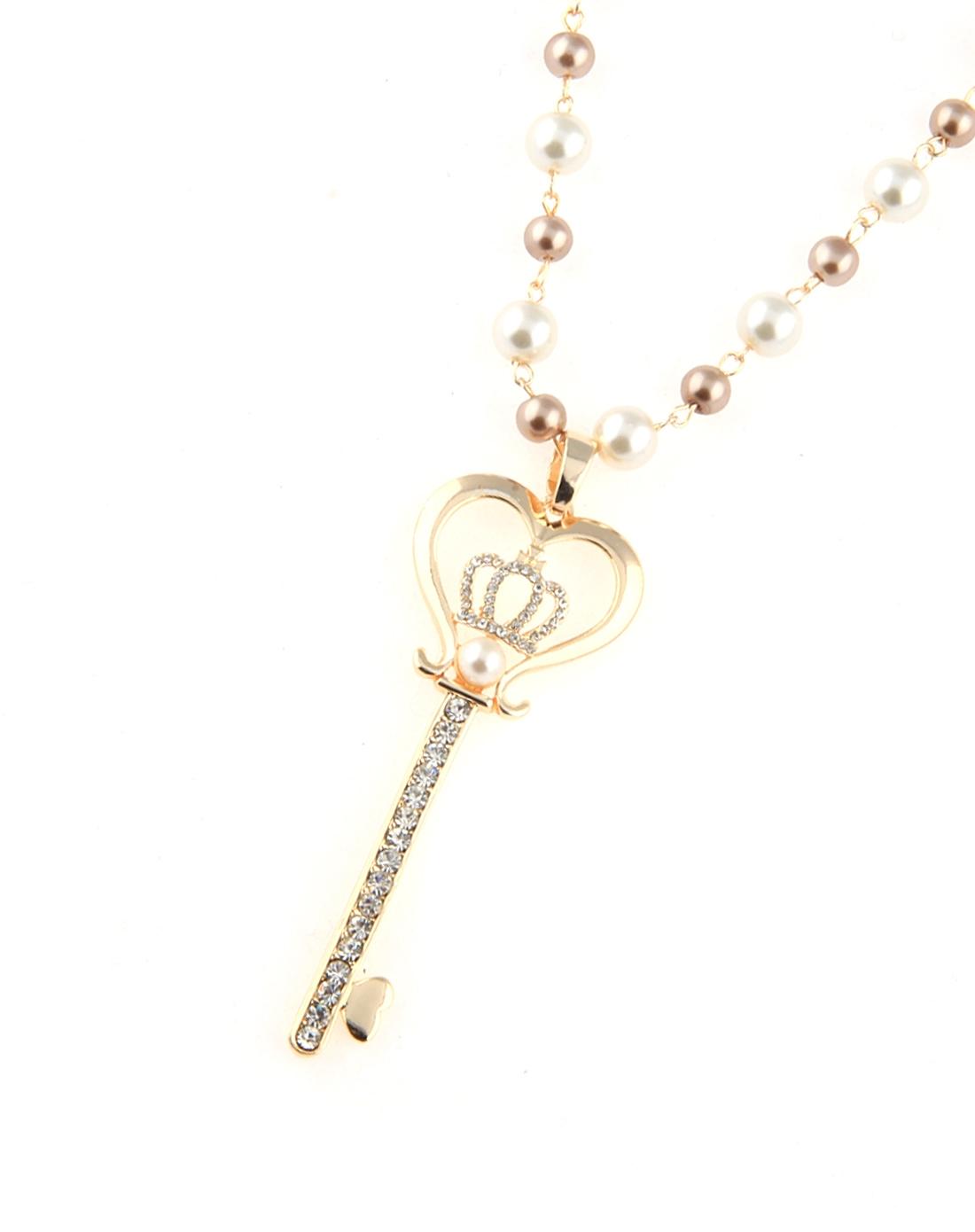 珍珠钥匙项链
