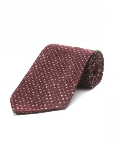 暗红色印花绅士气质领带