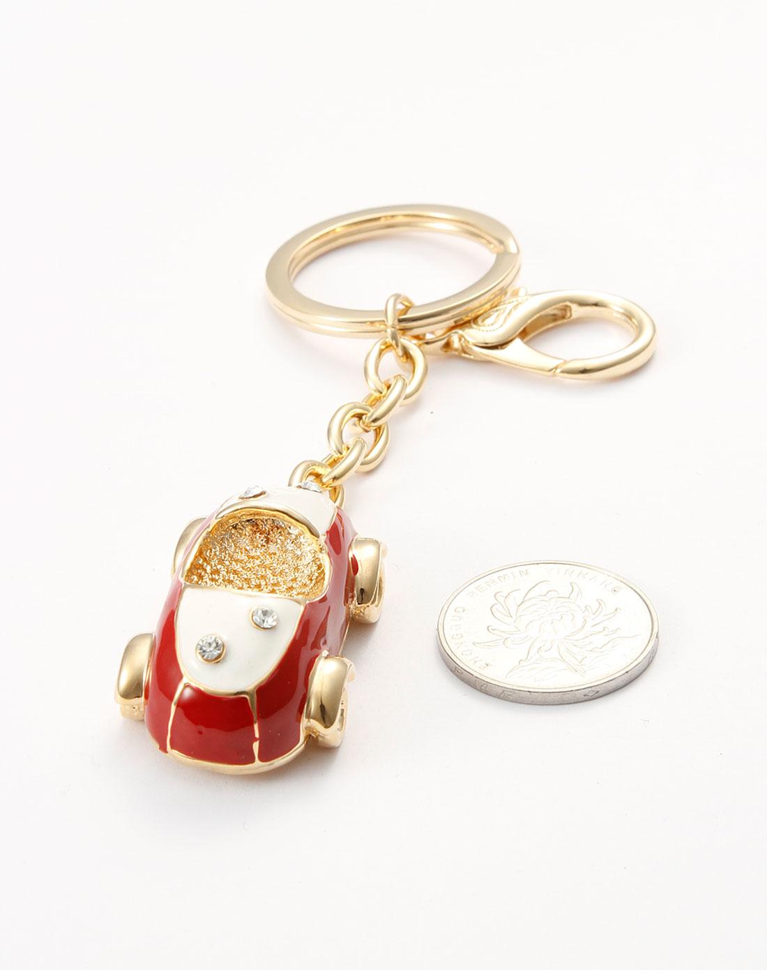 可爱红色小汽车钥匙扣