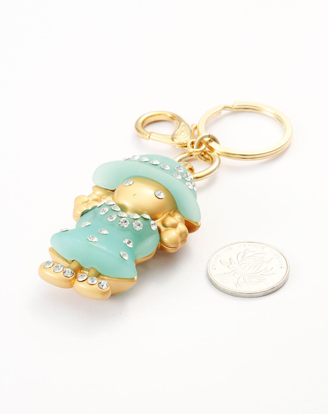 可爱绿衣小女孩钥匙扣