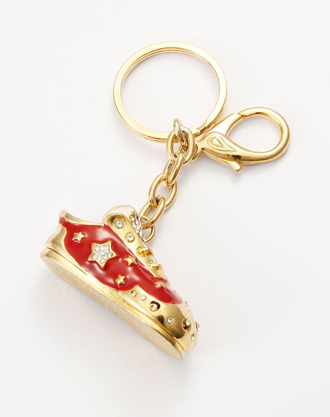 可爱红色球鞋钥匙扣
