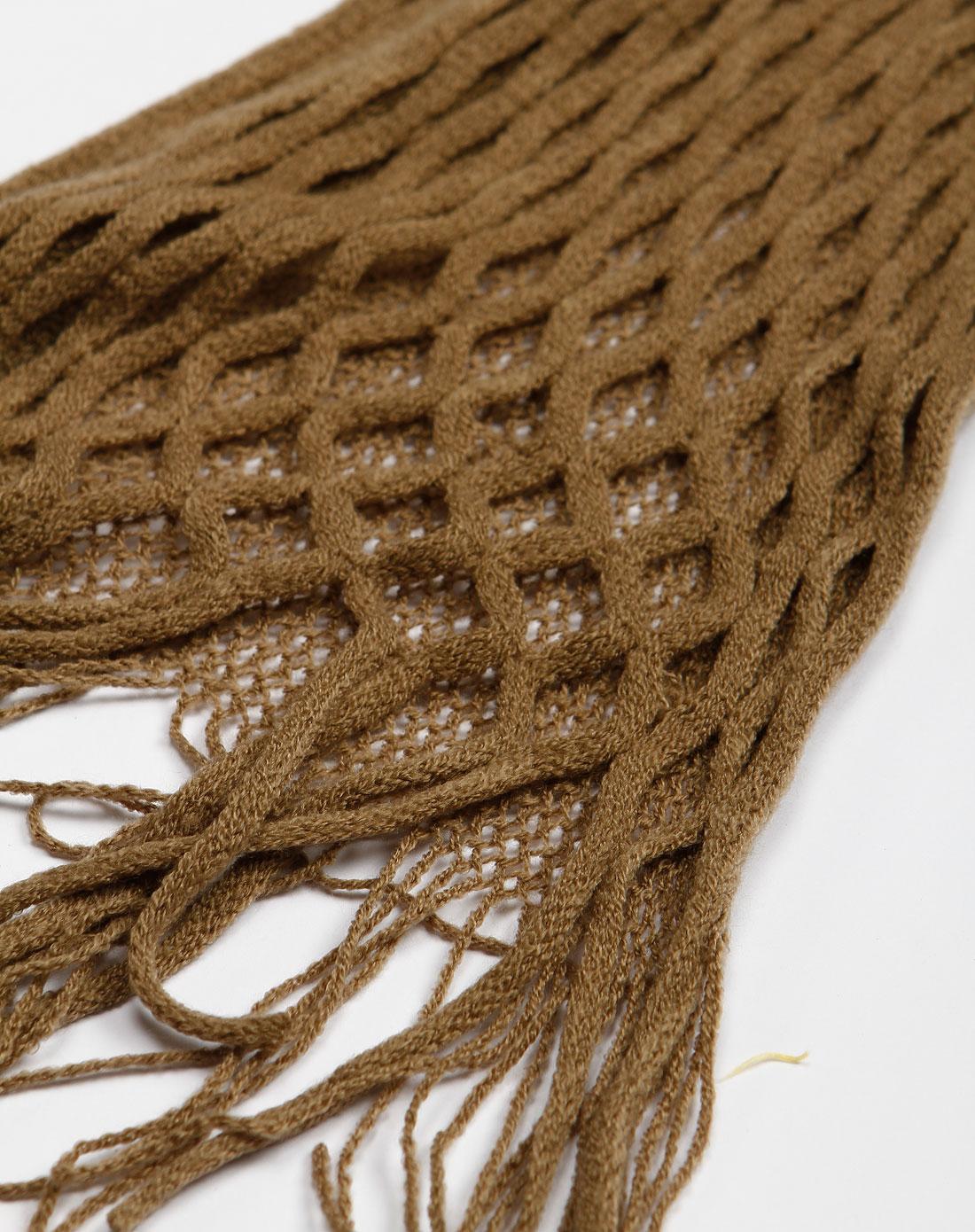 渔网围脖织法图解