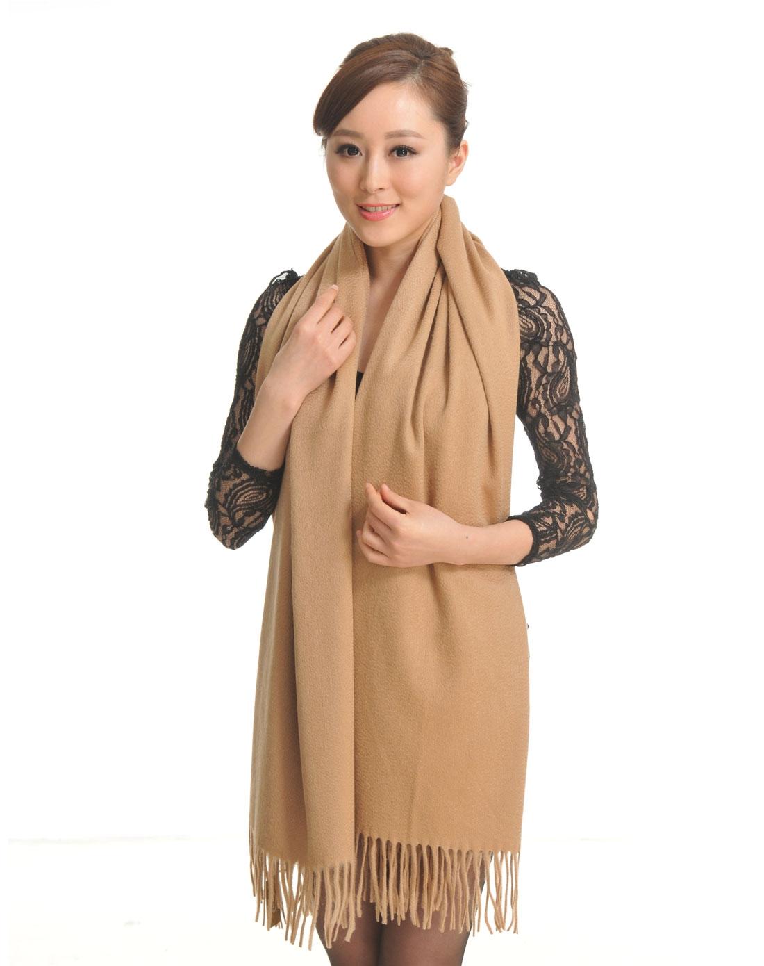素色全羊绒围巾披巾pk