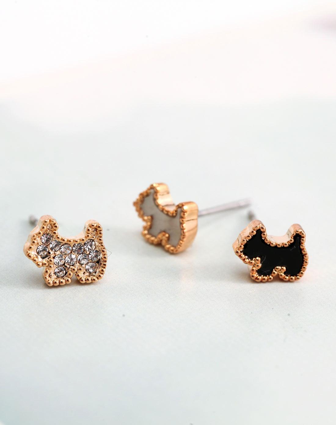 萌宠狗可爱水晶耳环