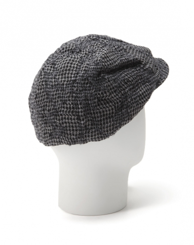 速写croquis黑/灰色时尚个性细格纹帽子9190980103图片