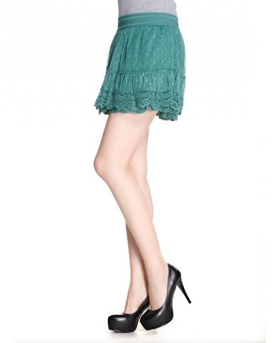 绿色休闲短裙