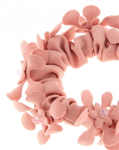 小花朵粉色发圈