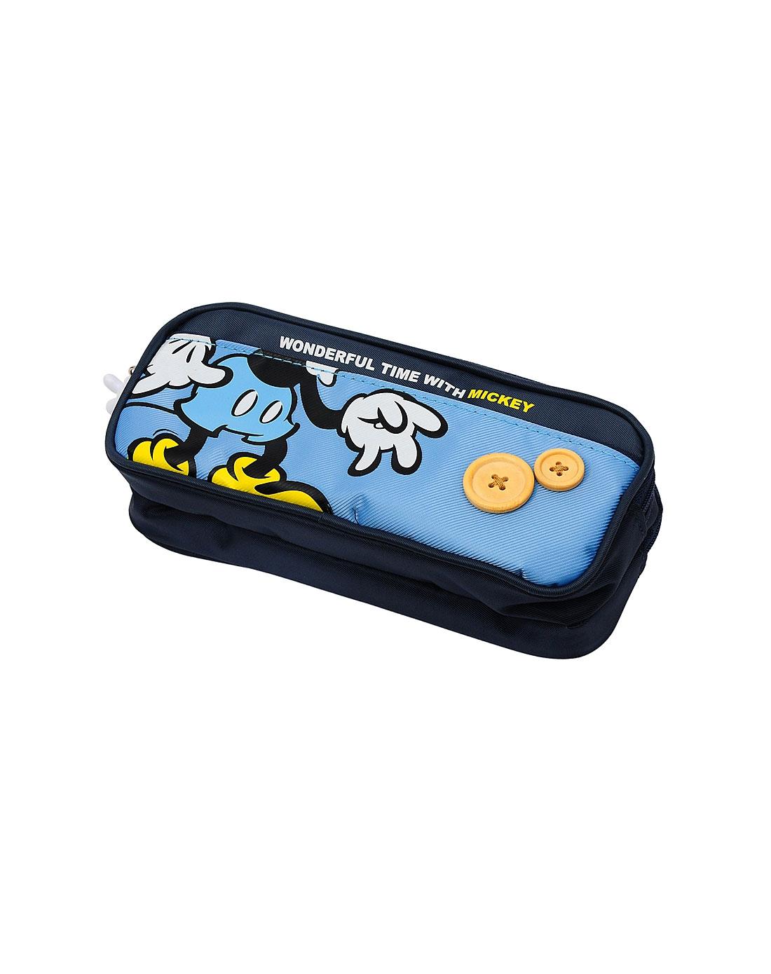 迪士尼 男童蓝色多功能笔袋