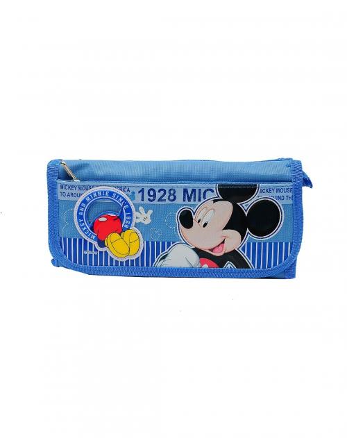 迪士尼 男童浅蓝色多功能笔袋