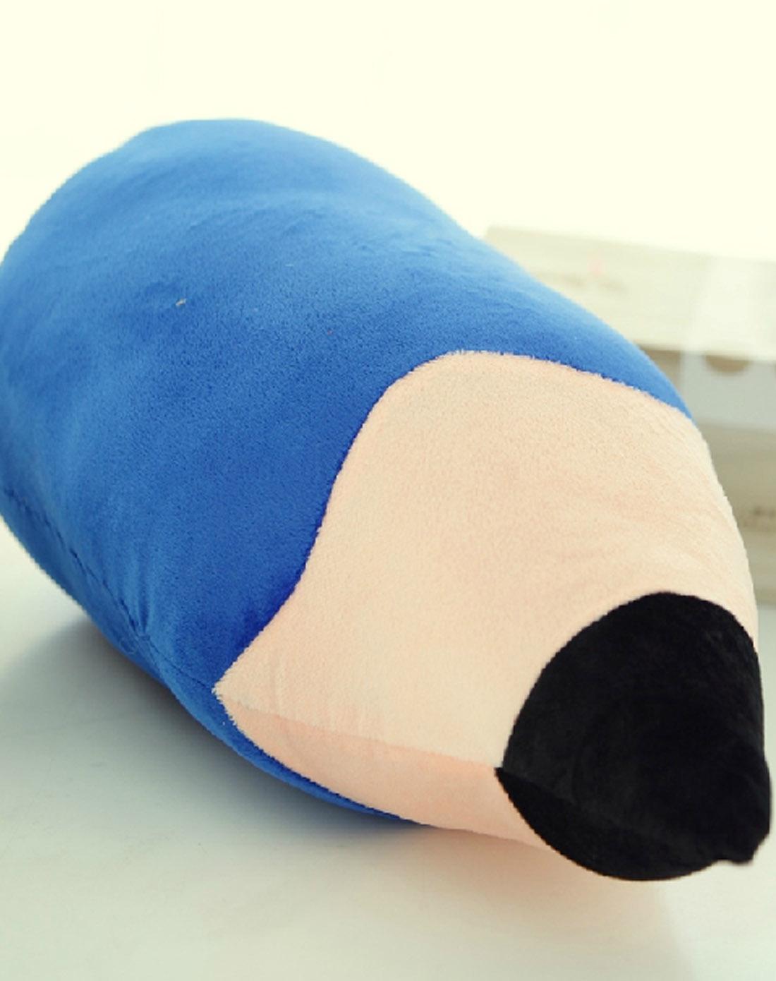 中性蓝色铅笔抱枕50cm