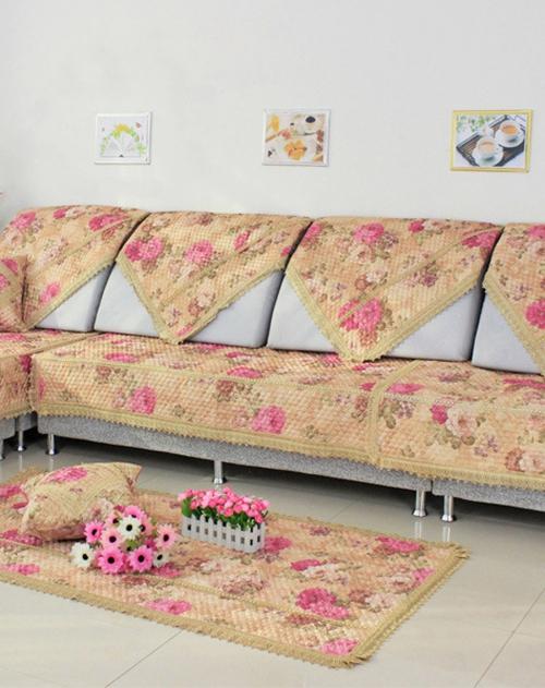 沙发垫 花团锦簇 蕾丝花边