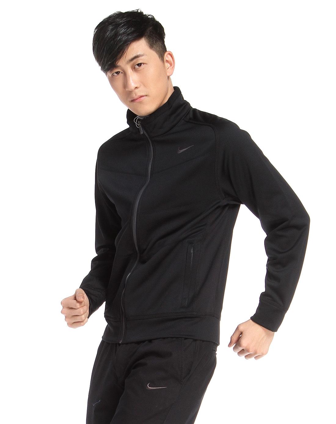 耐克nike 男款黑色长袖夹克