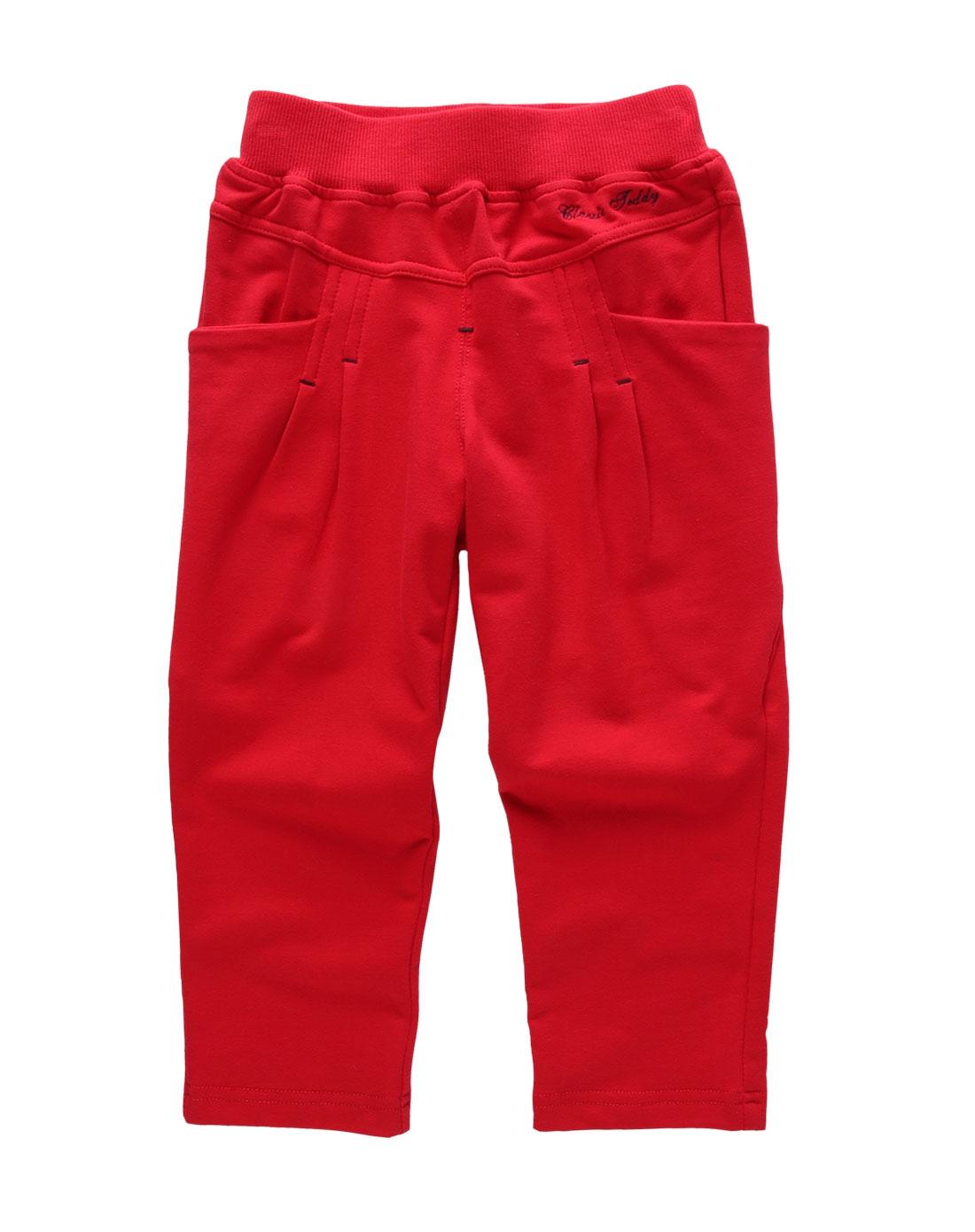 teddy女童红色长裤eb7141红色