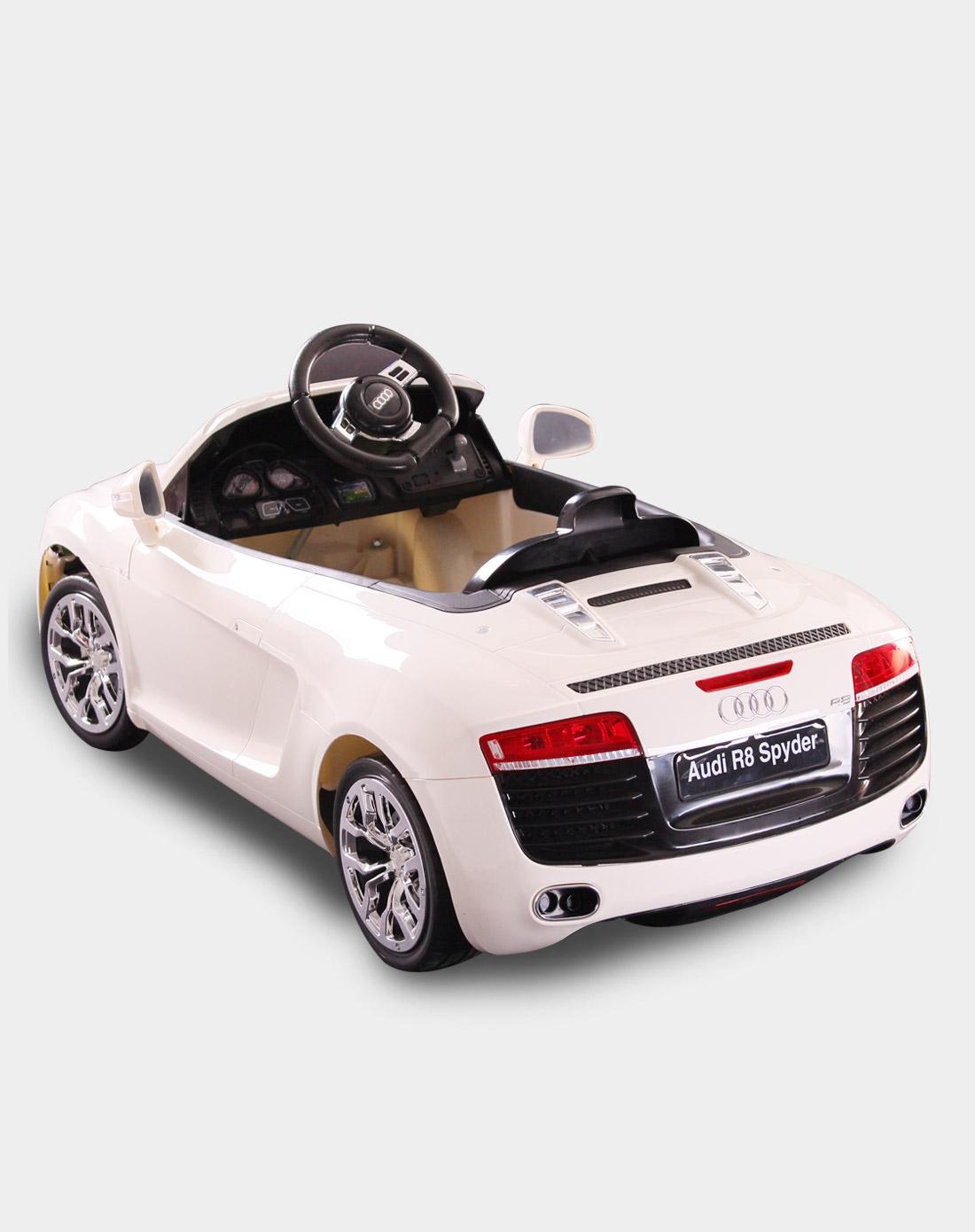 快乐年华儿童电动车专场奥迪r8精品电动可坐遥控儿童