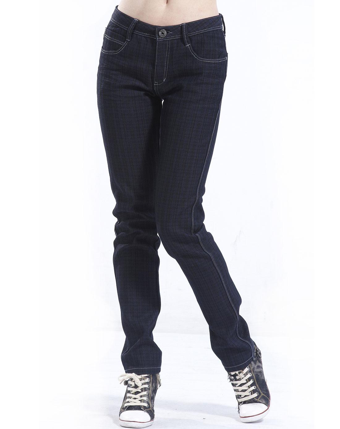 旗牌王kipone 女款黑色牛仔裤