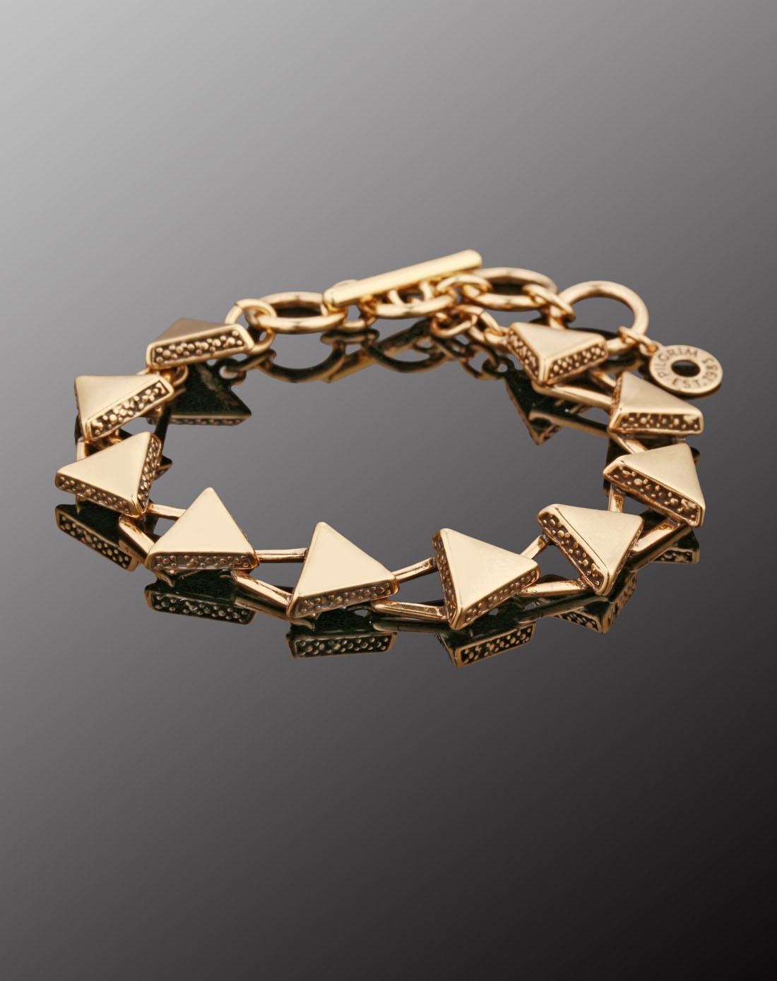 哲学金色三角形手链