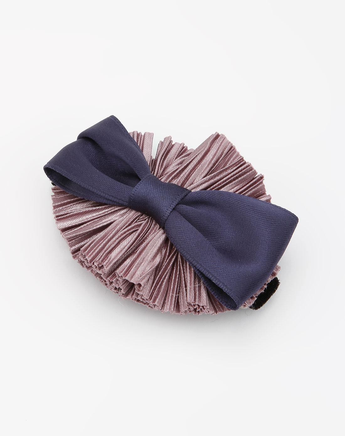 annabella暗紫/深蓝色蝴蝶结时尚发夹a10wn