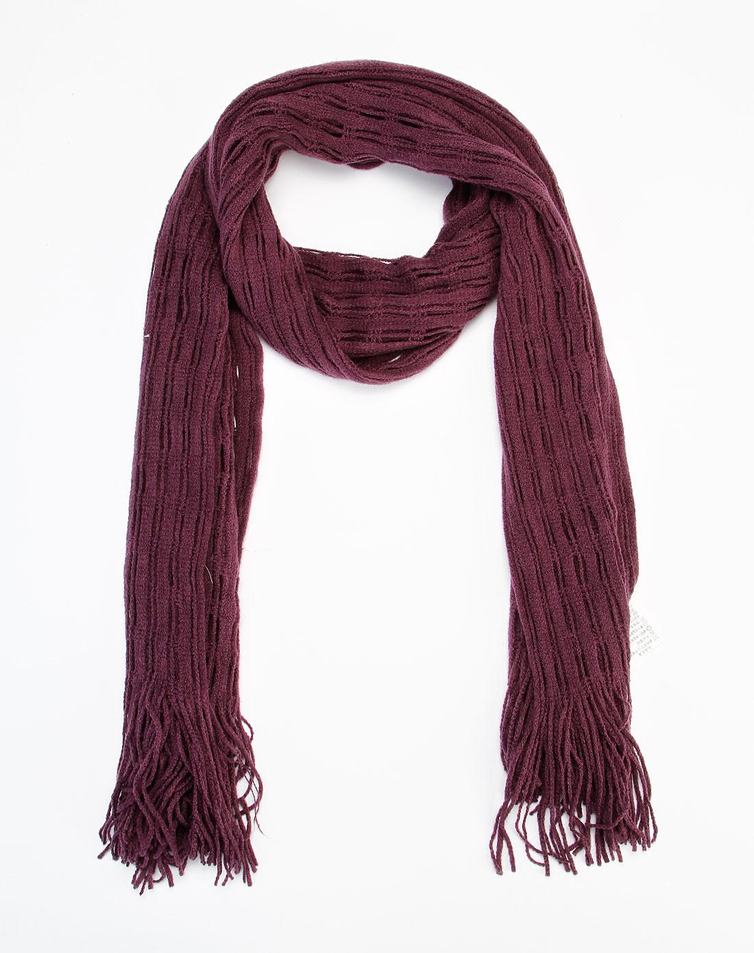 深紫色流苏时尚围巾