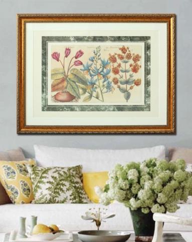 欧式进口复古花卉大型装饰挂画b款