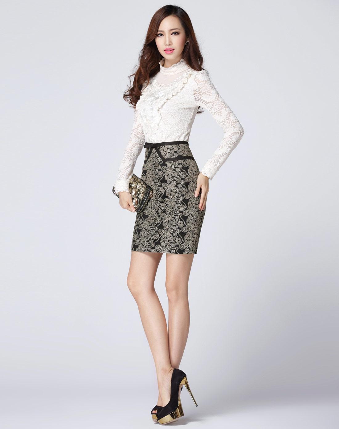 蕾丝半裙cdr3004100