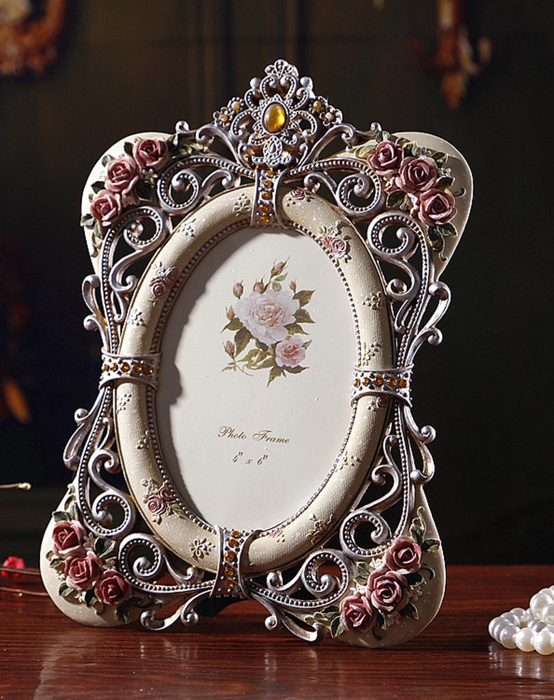 > 欧式宫廷复古雕花镂空6寸相框