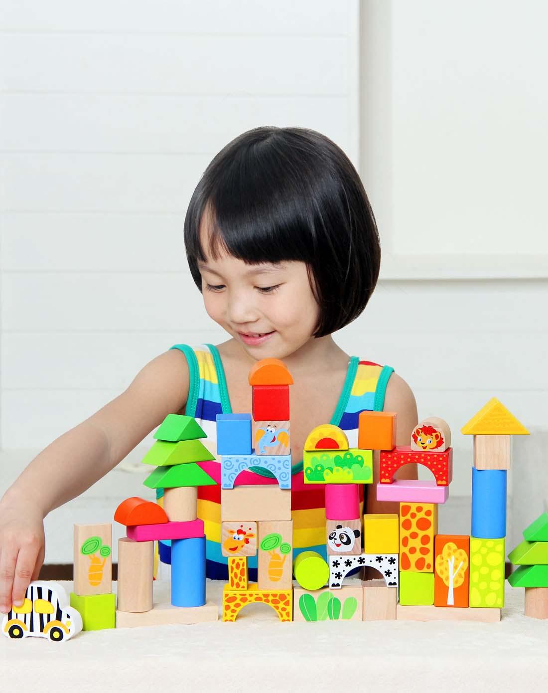 特宝儿等益智玩具特宝儿动物乐园森林探险积木j0010