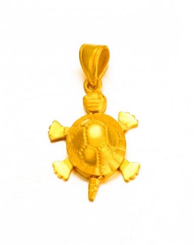 足金乌龟_千足金黄金吊坠 小乌龟吊坠
