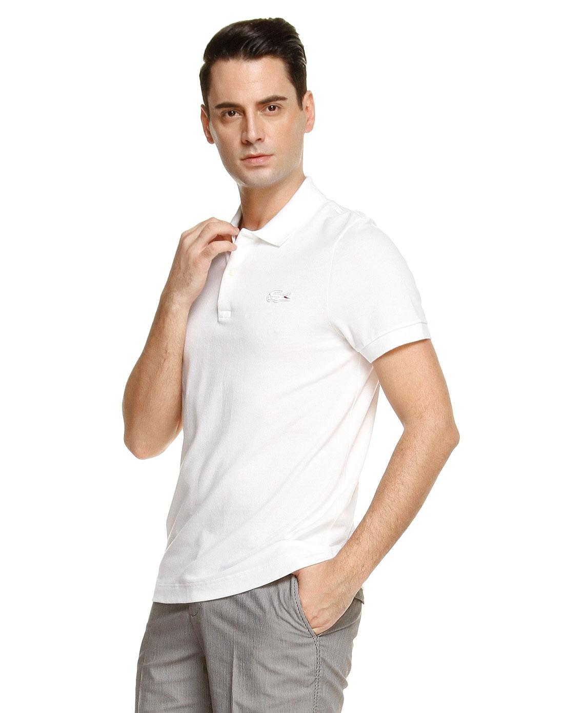 白色简约舒适短袖polo衫