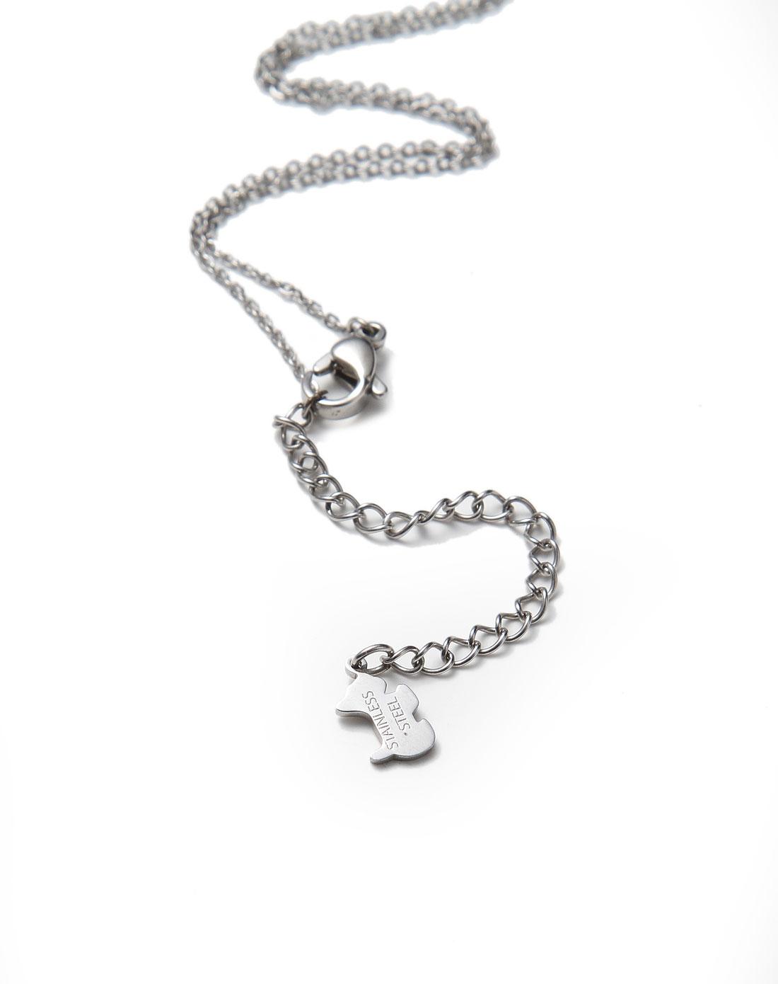 agatha巴黎系列银色埃菲尔铁塔项链2670021-064-tu